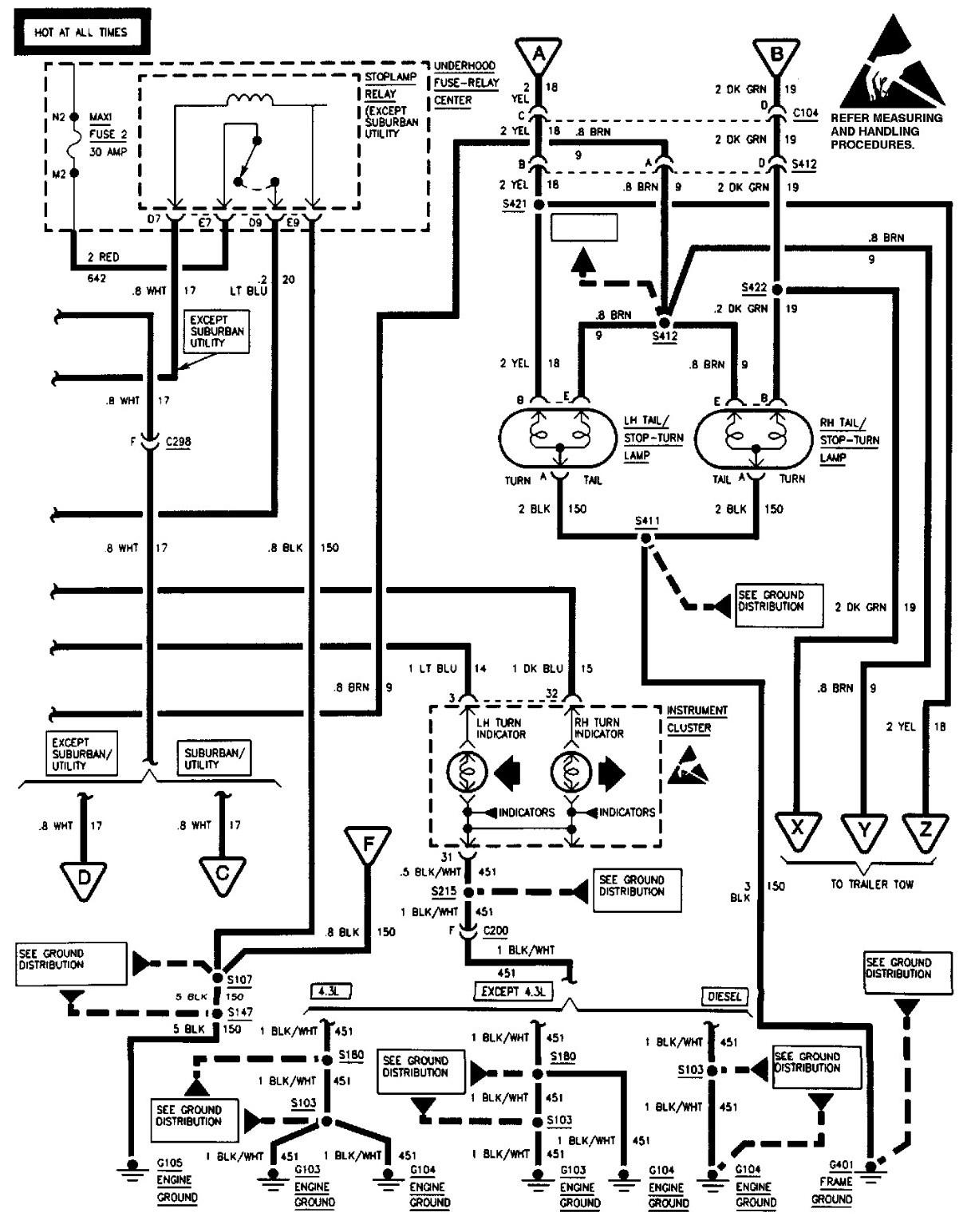 Tahoe Boat Wiring Diagram   Manual E-Books - 1997 Chevy Silverado Wiring Diagram