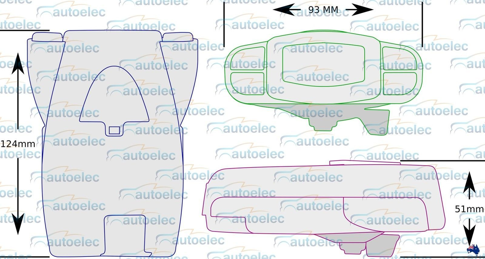 Tekonsha P3 Prodigy Caravan Trailer Electric Brake Controller + Bonus - Prodigy Brake Controller Wiring Diagram