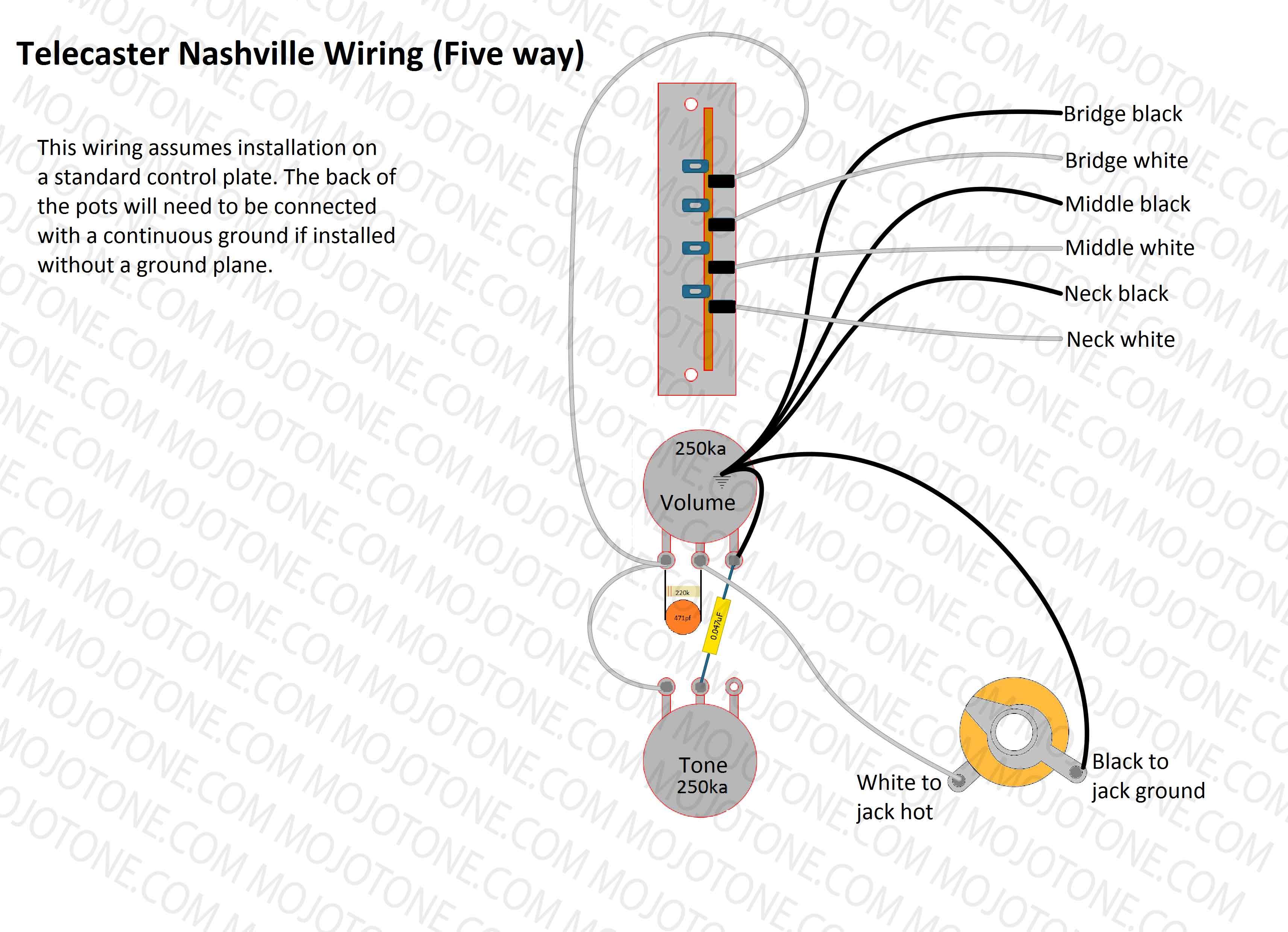 Telecaster Nashville Wiring Diagram - Tele Wiring Diagram