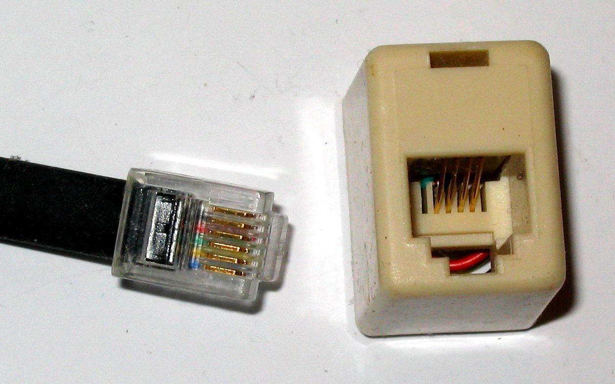 Telephone Plug - Wikipedia - Phone Line Wiring Diagram