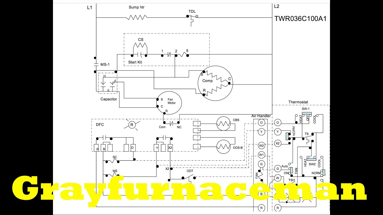 The Heat Pump Wiring Diagram, Overview - Youtube - Heat Pump Wiring Diagram Schematic