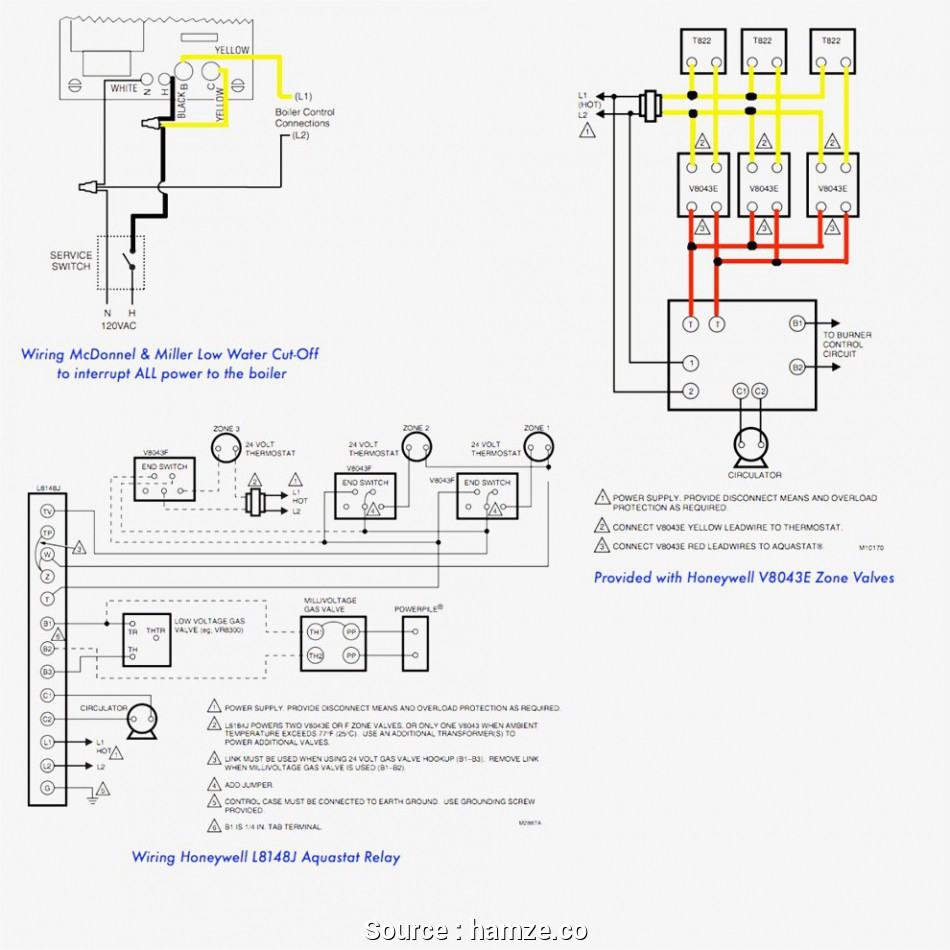 Thermostat Wiring Diagram Taco Val | Manual E-Books - Taco Zone Valve Wiring Diagram