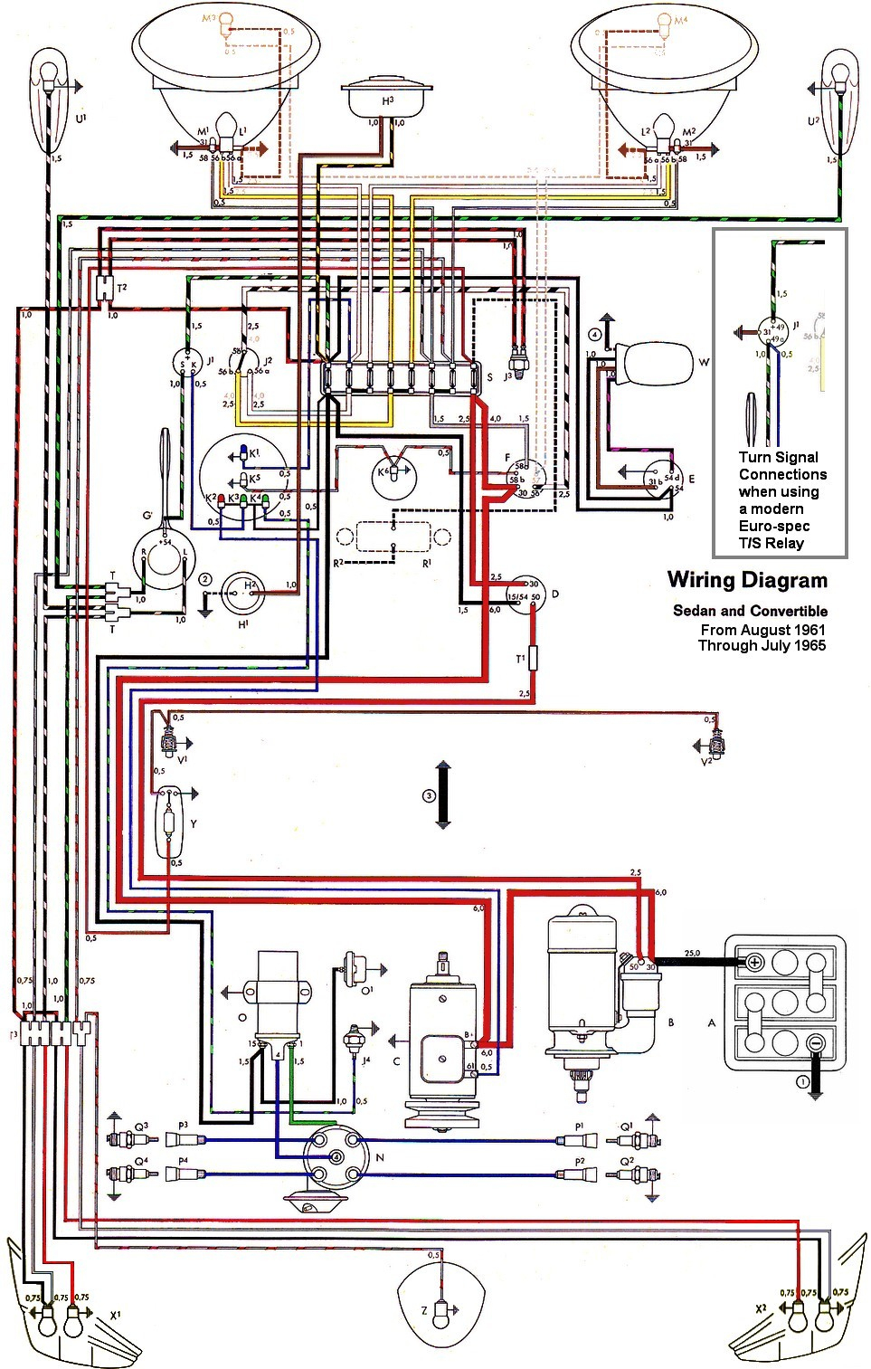 Thesamba :: Type 1 Wiring Diagrams - Vw Wiring Diagram
