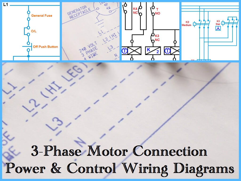 Three Phase Motor Power & Control Wiring Diagrams - Three Phase Motor Wiring Diagram