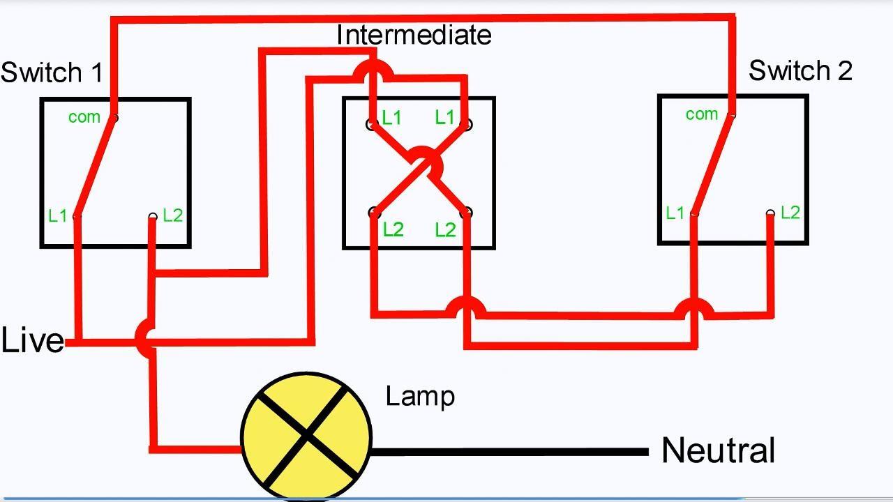 Three Way Light Switching | Intermediate Switch - Youtube - Wiring Diagram For 3 Way Switch