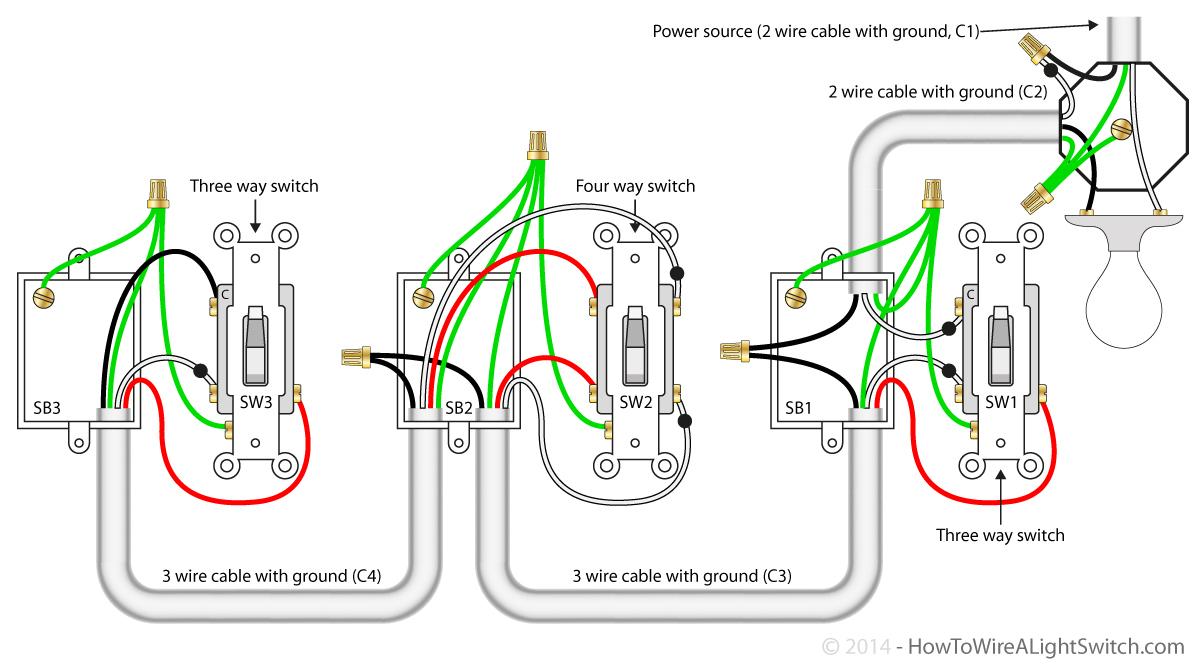 Three Way Switch Wiring Diagram Two Light | Wiring Library - 4-Way Switch Wiring Diagram