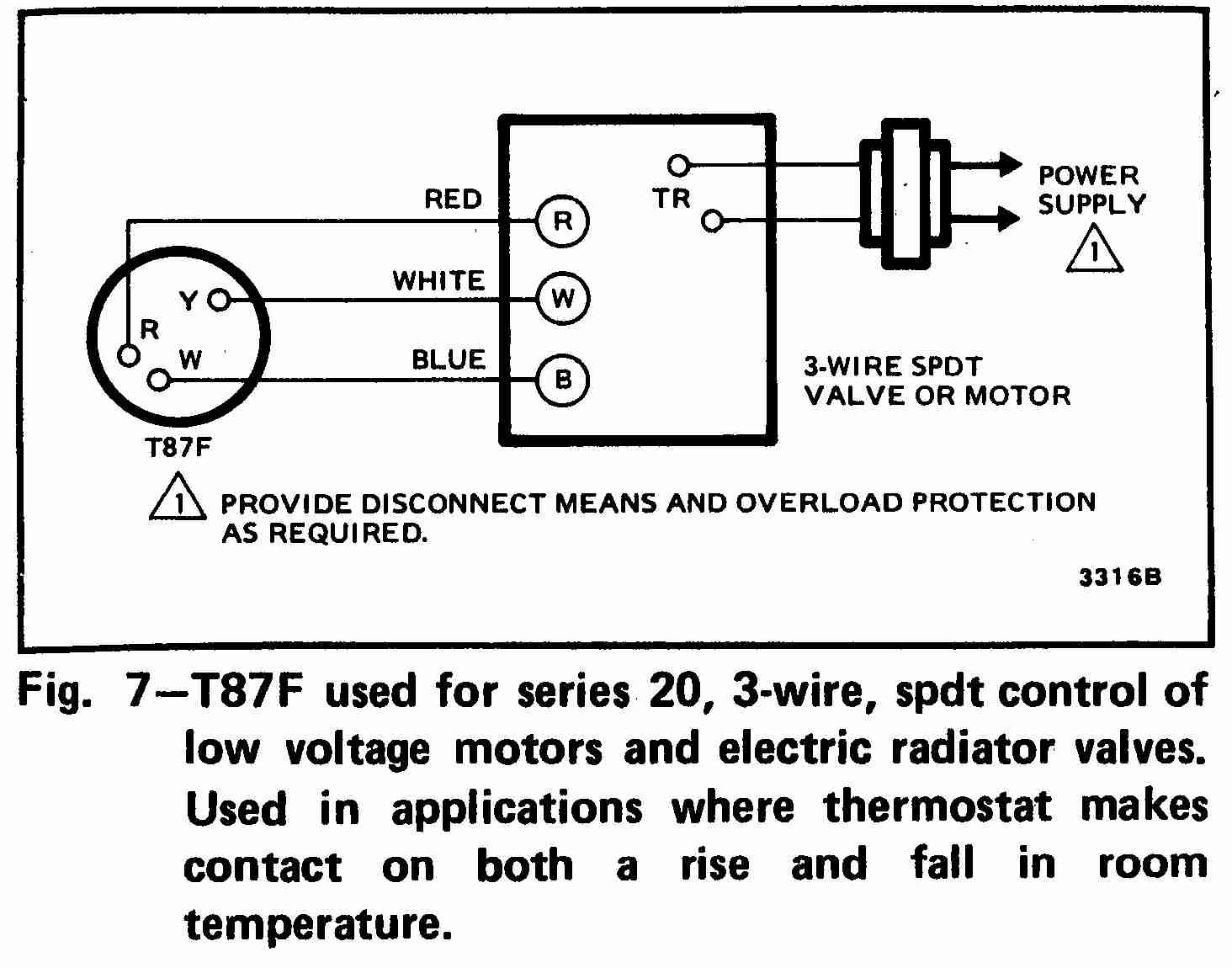 Three Wire Thermostat Diagram - Wiring Diagrams Hubs - Honeywell Thermostat Wiring Diagram 3 Wire