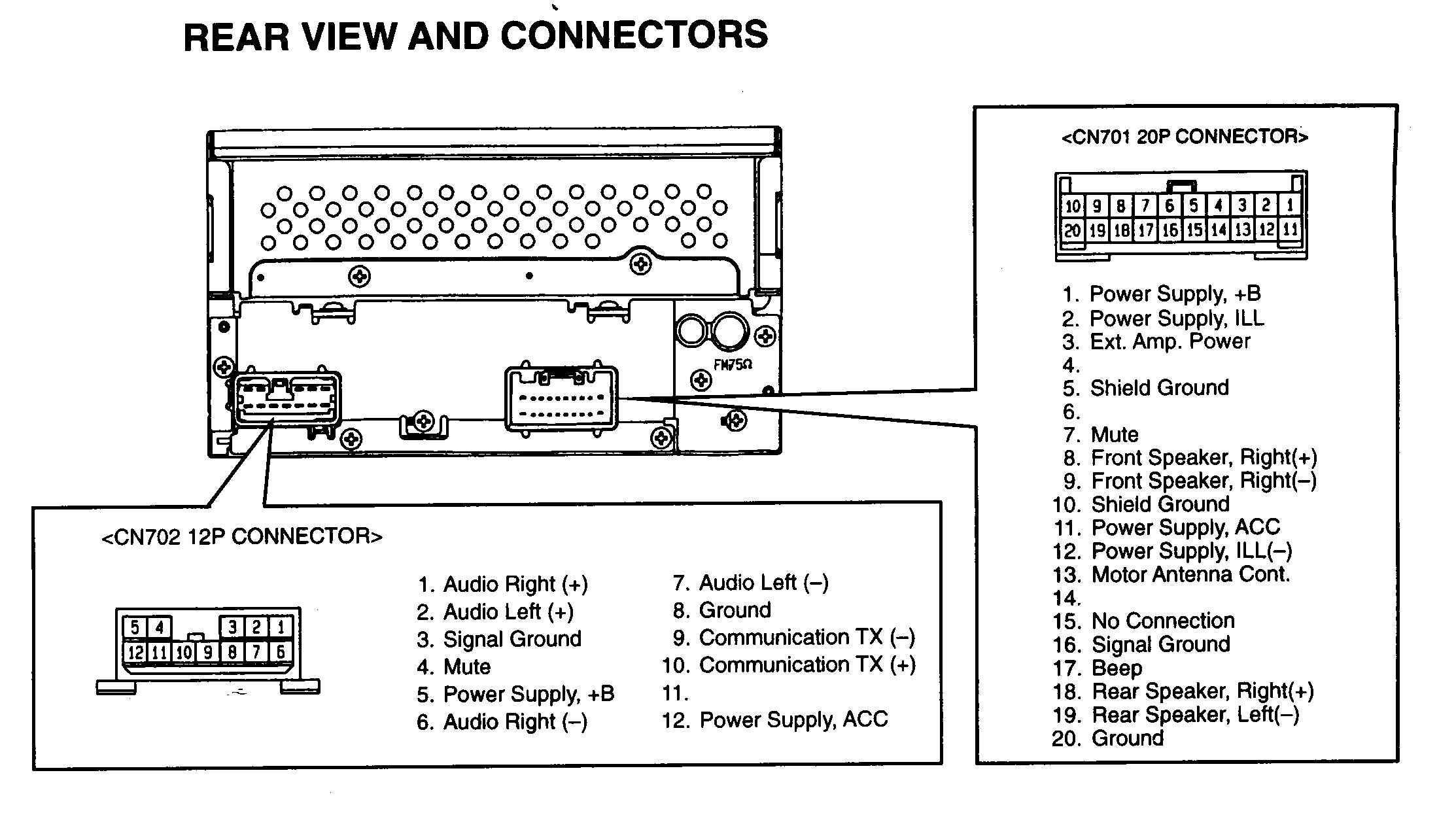 Toyota Car Stereo Wiring - Wiring Diagram Data Oreo - Car Amp Wiring Diagram