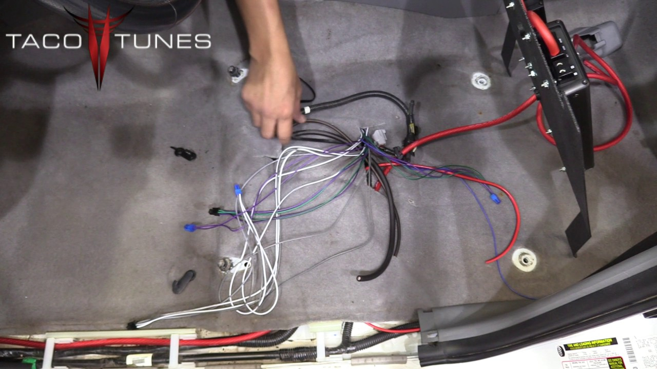 Toyota Tacoma 2005-2019 How To Install Plug And Play Amps & Amp Rack - Toyota Jbl Amplifier Wiring Diagram