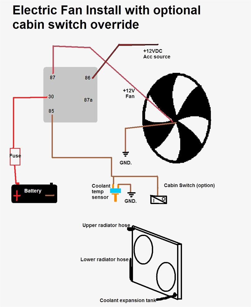 Unique Wiring Diagram For Electric Fan Standard Throughout With - Electric Fan Wiring Diagram
