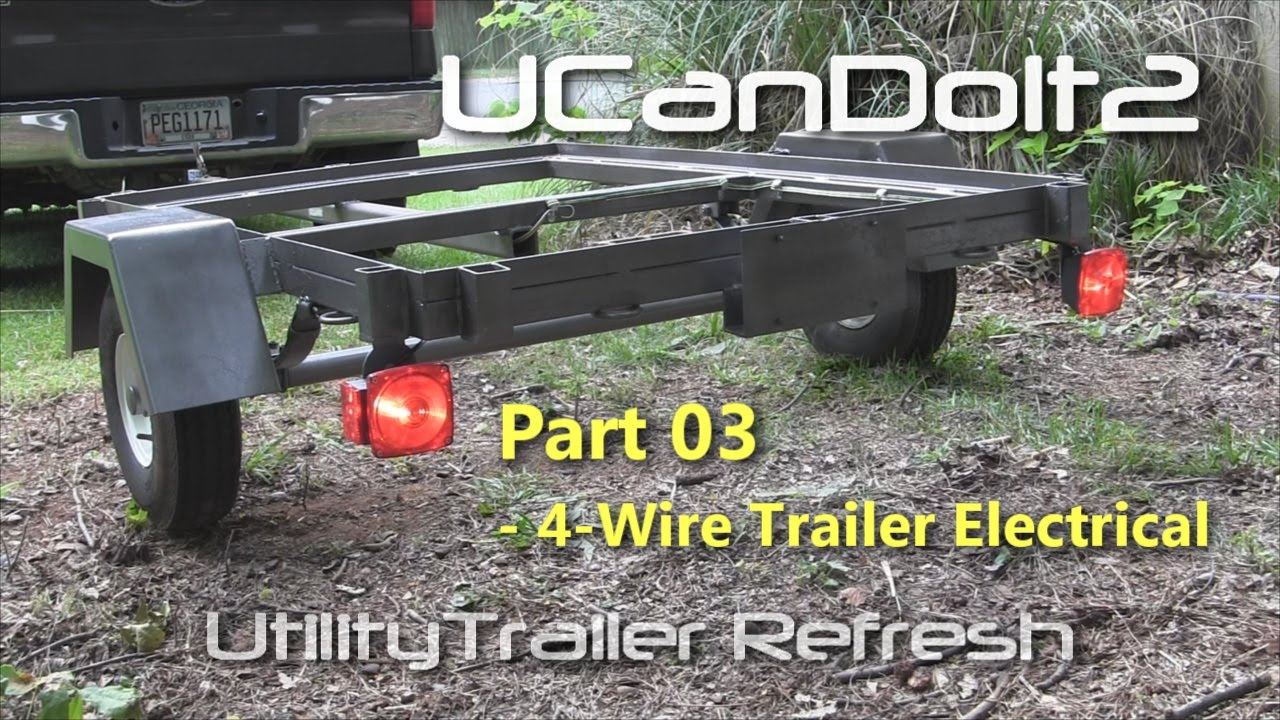 Utility Trailer 03 - 4 Pin Trailer Wiring And Diagram - Youtube - Trailer Wiring Diagram 4 Pin