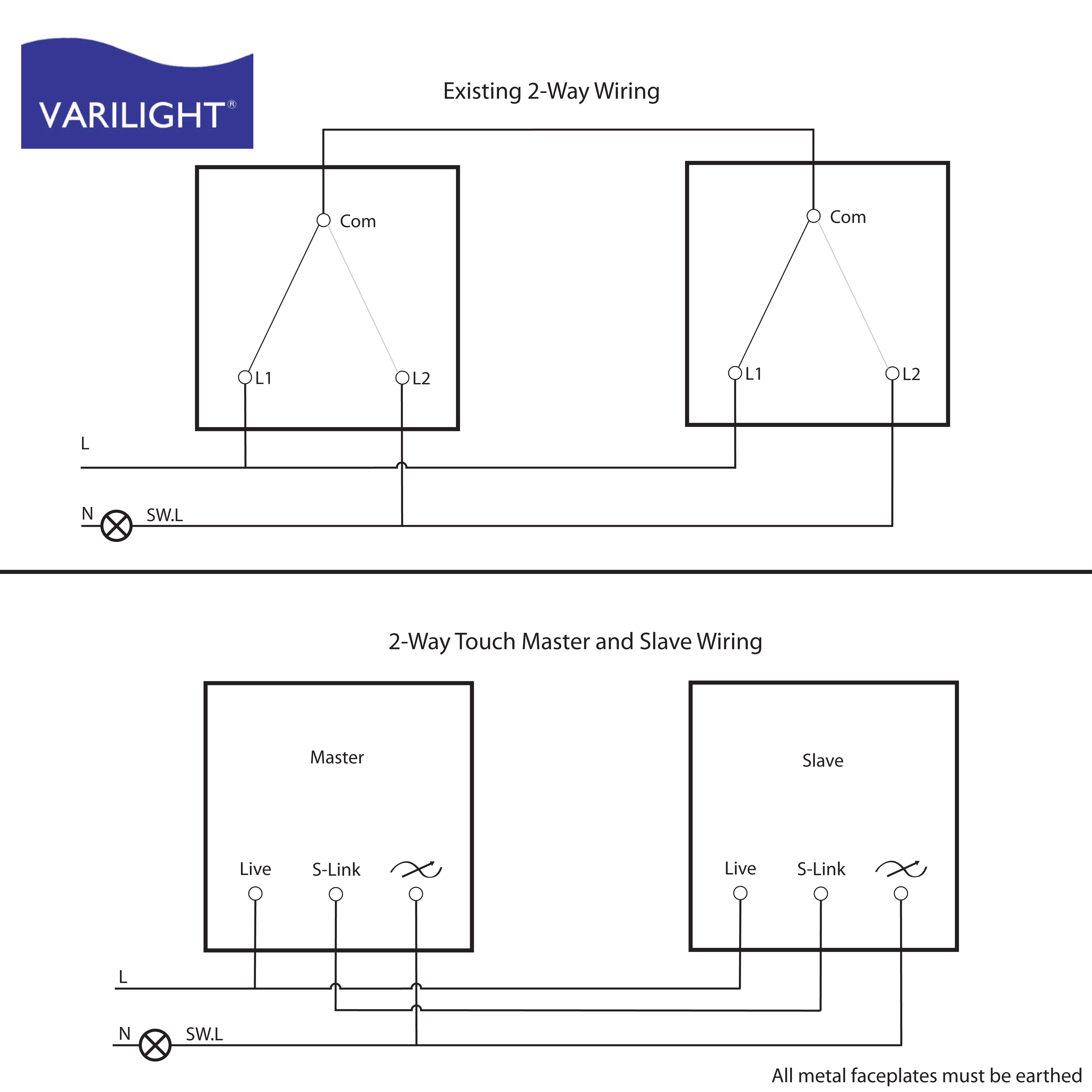Varilight Wiring Diagrams - Dimming Switch Wiring Diagram