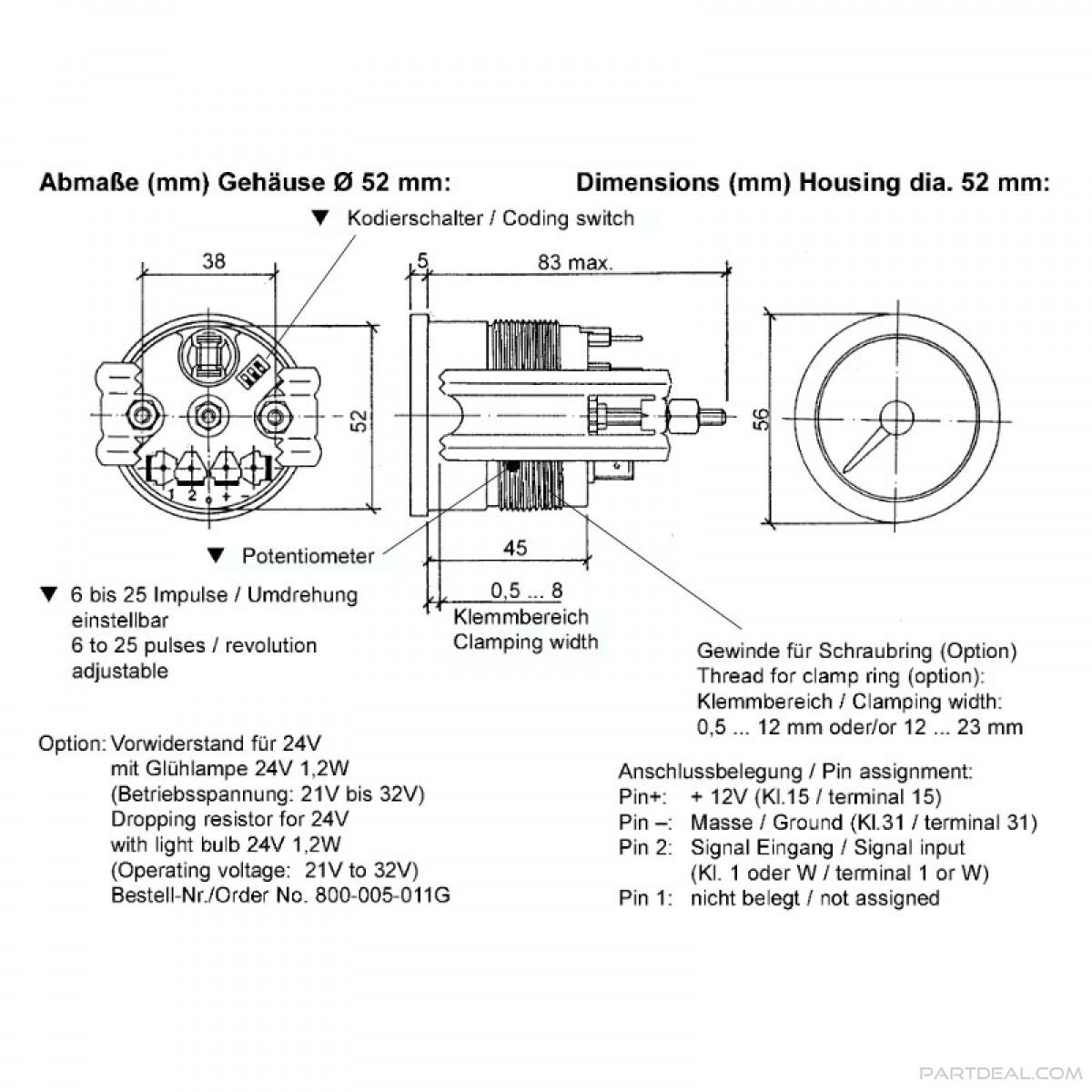 Vdo Marine Tachometer Wiring Diagram - Data Wiring Diagram Schematic - Tachometer Wiring Diagram