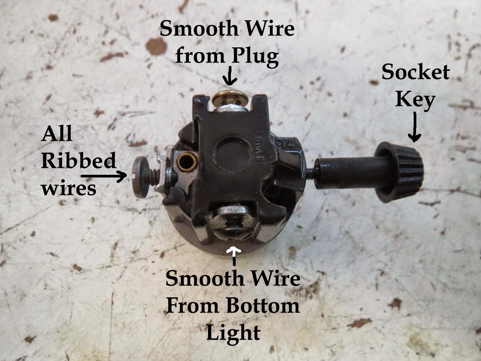 Vintage Lighting Parts - Democraciaejustica - Light Socket Wiring Diagram