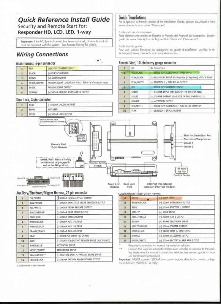 Viper Alarm Wiring - Wiring Diagram Blog