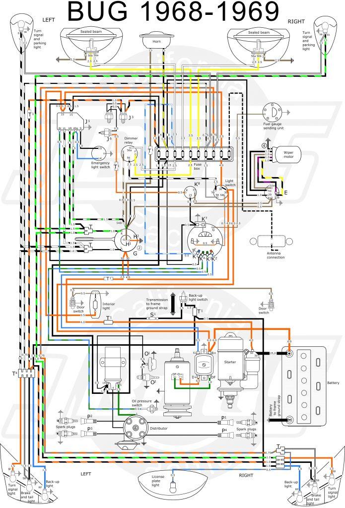 Vw Tech Article 1968-69 Wiring Diagram