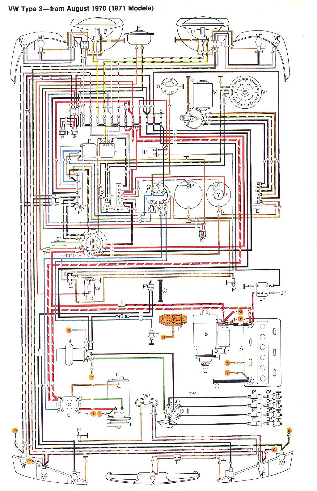 Vw Type 3 Wiring Diagrams - Model A Wiring Diagram
