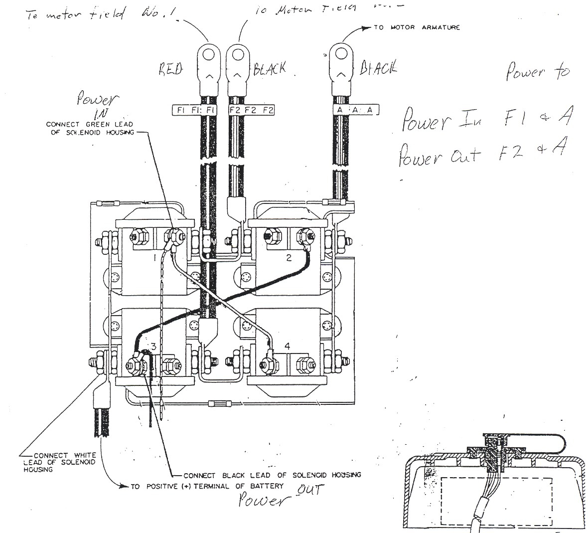 Warn Winch Solenoid Wiring - Wiring Diagrams Hubs - Warn Winch Wiring Diagram 4 Solenoid