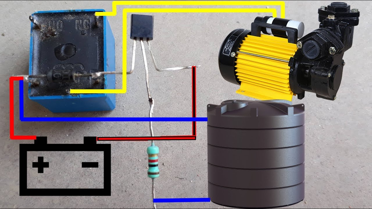 Water Pump Auto Cut Switch Circuit Diagram   Water Pump Auto On-Off - Well Pump Control Box Wiring Diagram