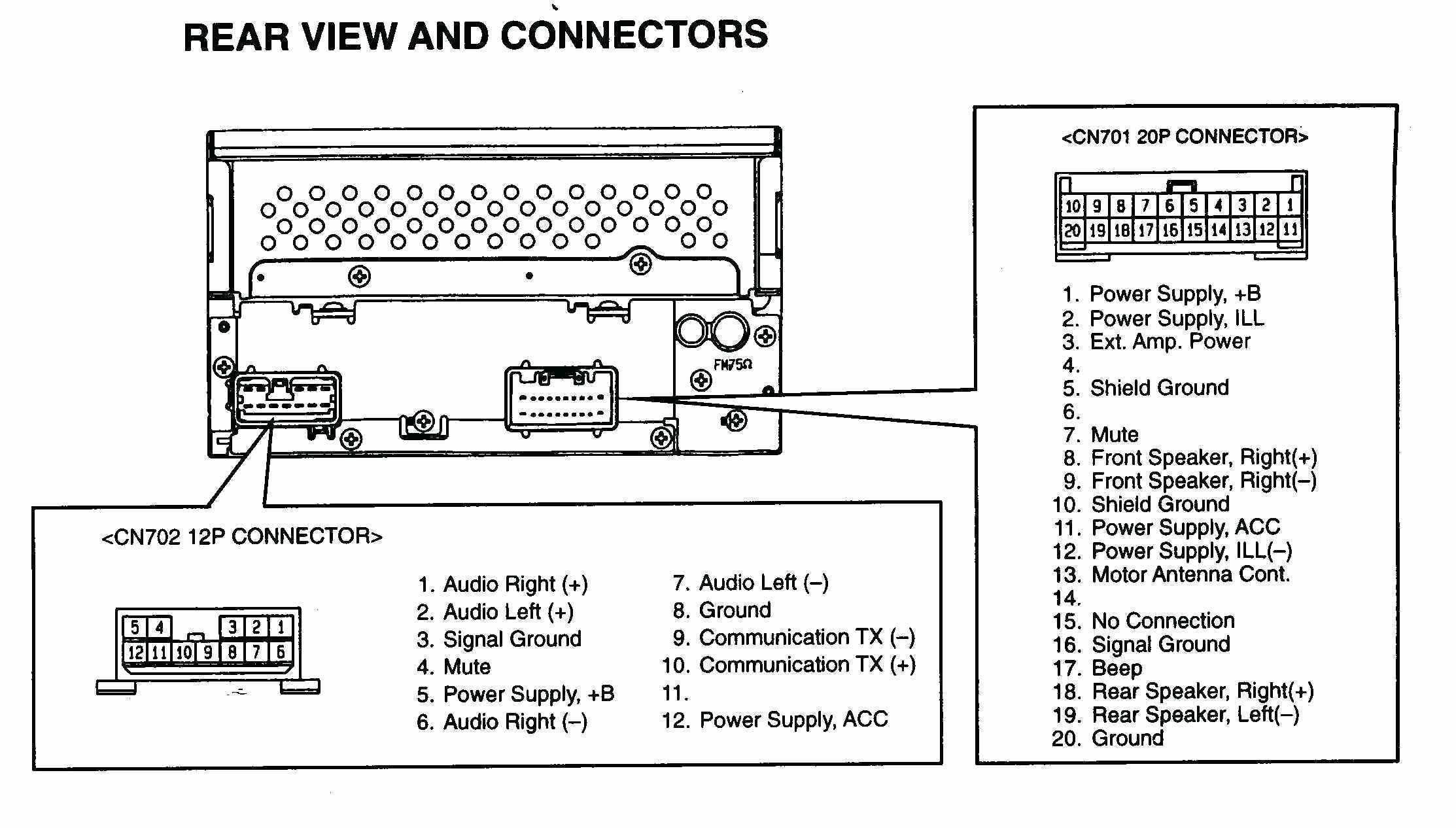 What Wires Are The Front Speakers On A Car Pioneer Stereo Wiring - Pioneer Wiring Diagram