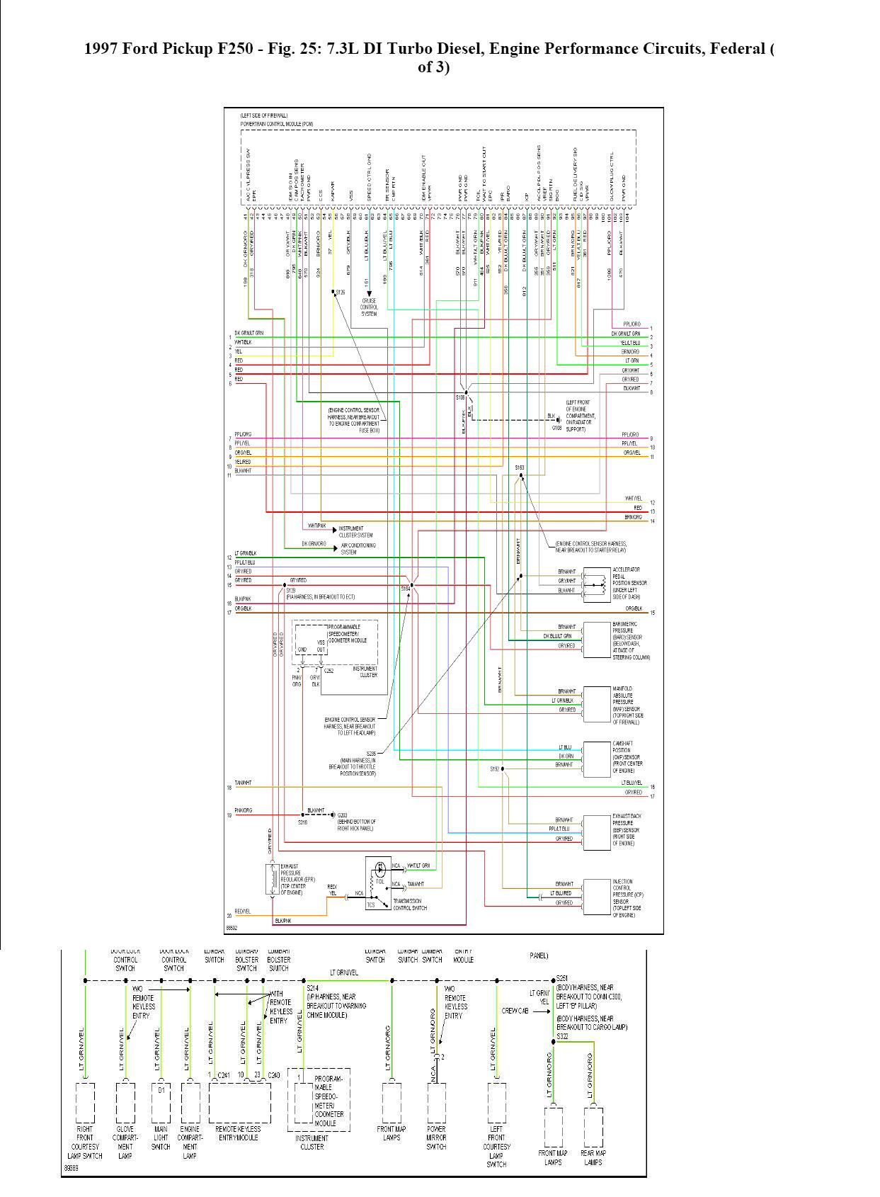 Where Can I Find A Complete Wiring Schematic For A 1997 Ford F350 - 7.3 Powerstroke Wiring Diagram