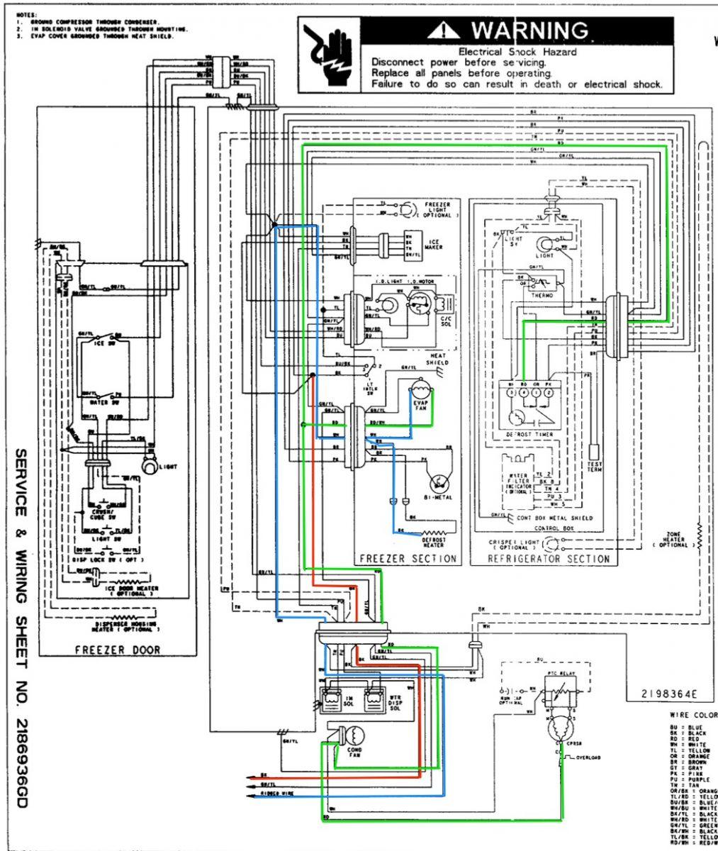 Whirlpool Ed25Rfxfw01 Refrigerator Wiring Diagram - The - Refrigerator Wiring Diagram