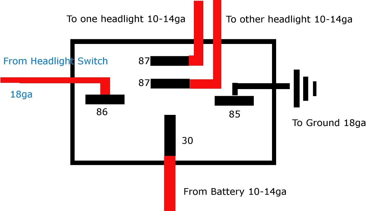 Why And How To Relay Headlights - Youtube - 5 Pin Relay Wiring Diagram Driving Lights