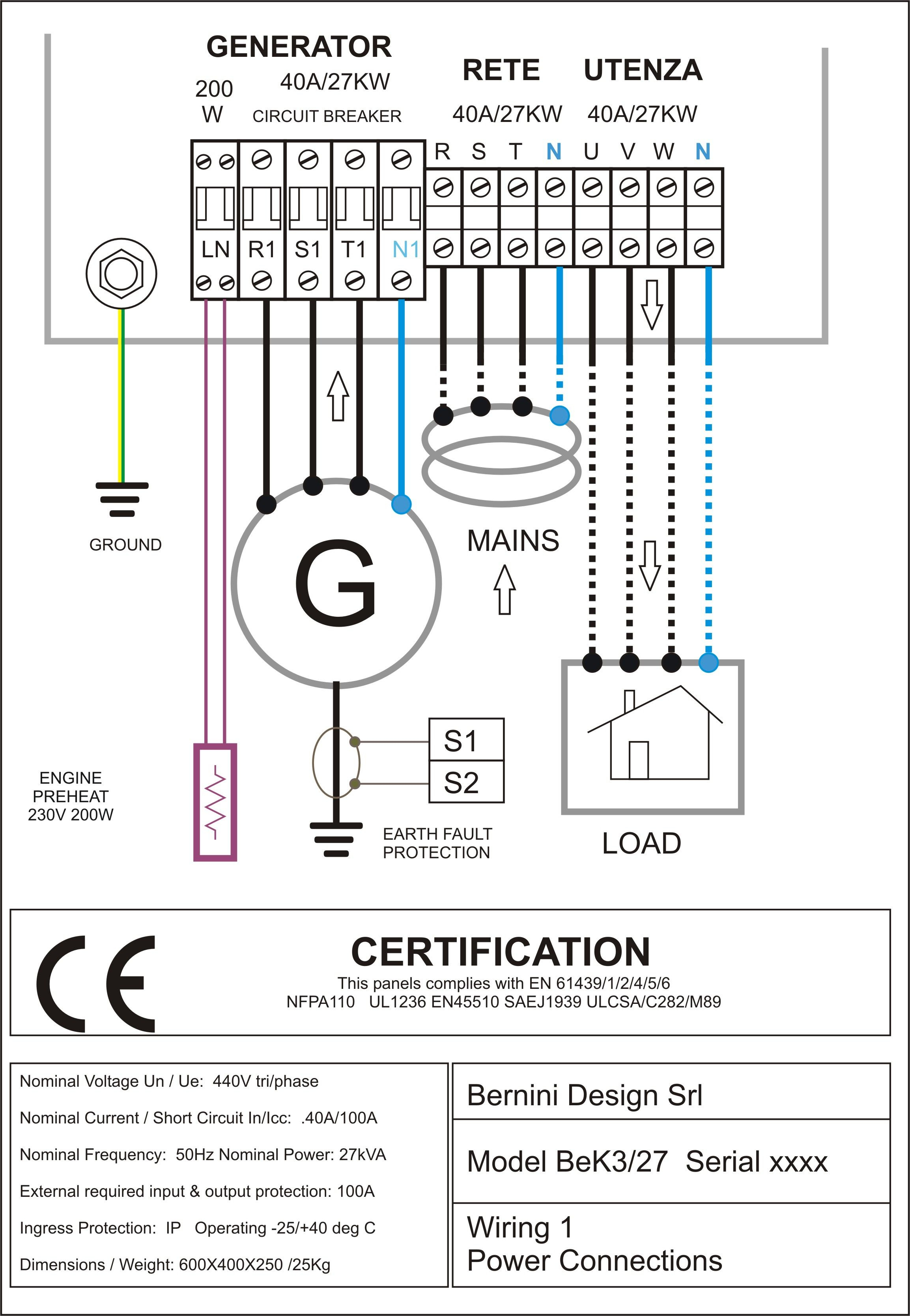 Wire Diagram For Generator | Wiring Library - Generator Wiring Diagram