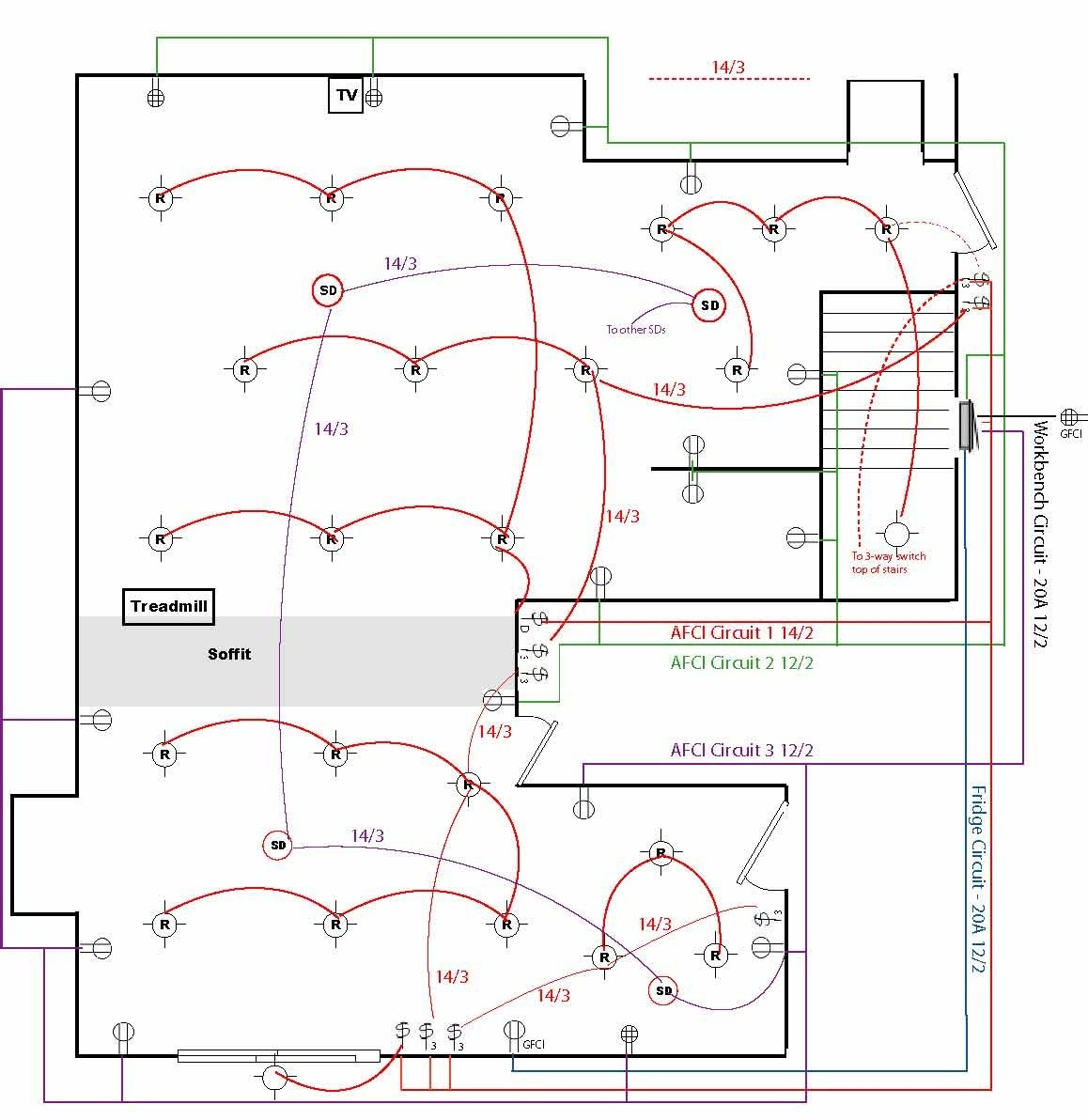Wire Electrical House Wiring Diagrams - All Wiring Diagram Data - Basic House Wiring Diagram
