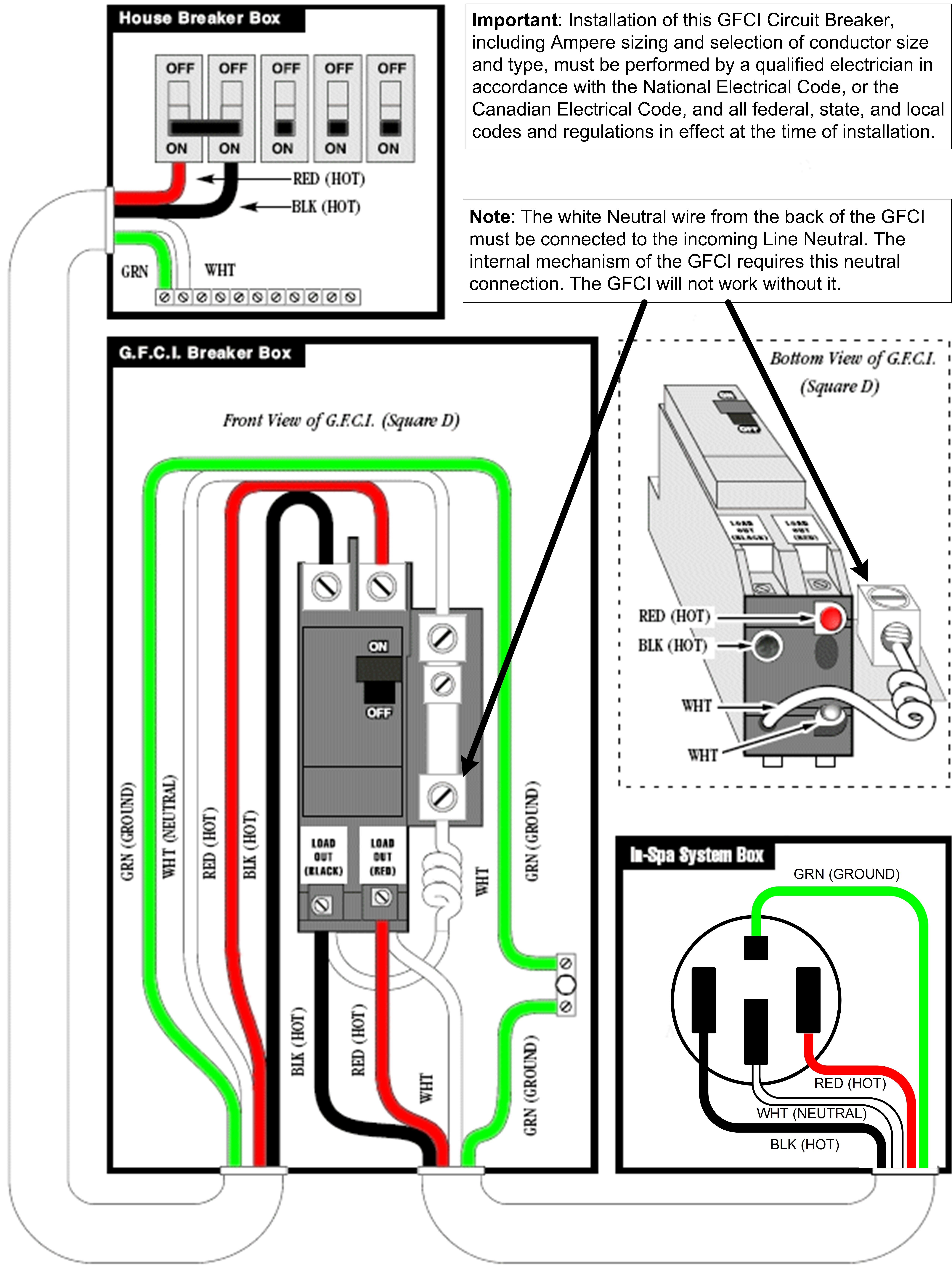 Wiring 240V Gfci Breaker - Creative Wiring Diagram Templates • - 2 Pole Gfci Breaker Wiring Diagram