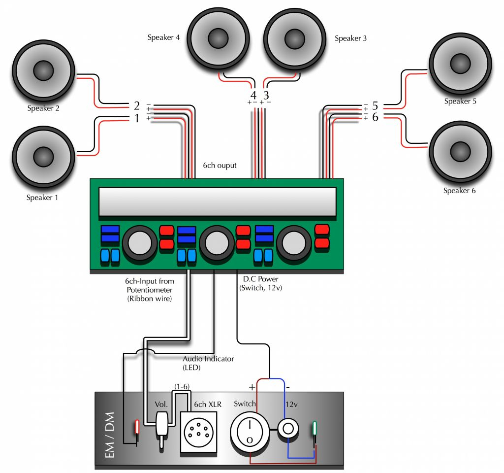 Wiring 3 Speakers To A 2 Channel Amp Diagram | Wiring Diagram - 6 Speakers 4 Channel Amp Wiring Diagram