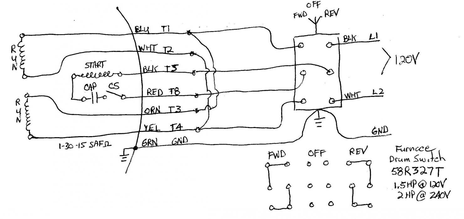 Wiring A Single Phase Motor To Drum Switch - 3 Phase Motor Wiring Diagram