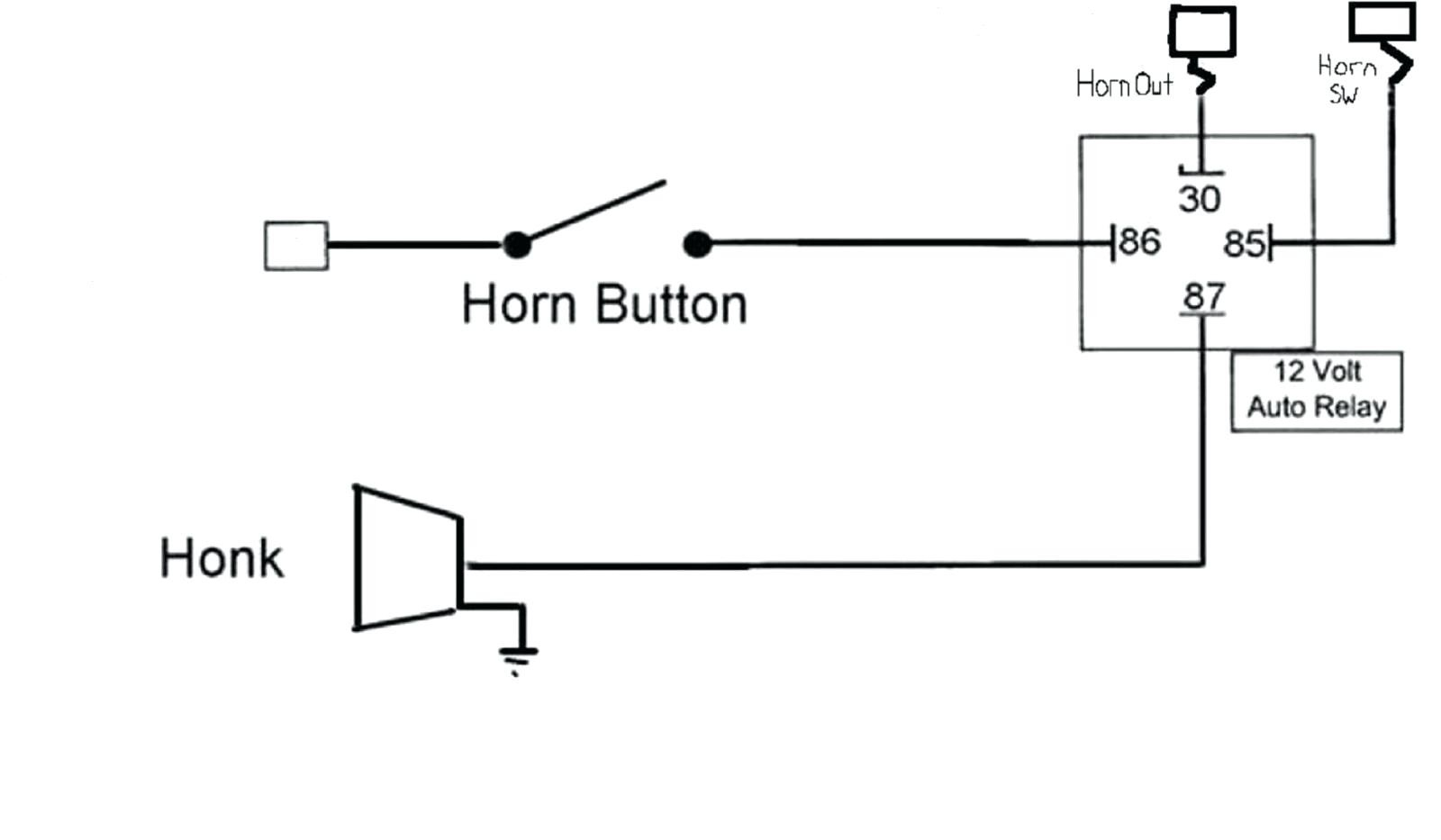 Wiring Car Horn Diagram - Wiring Diagram Data - Horn Relay Wiring Diagram