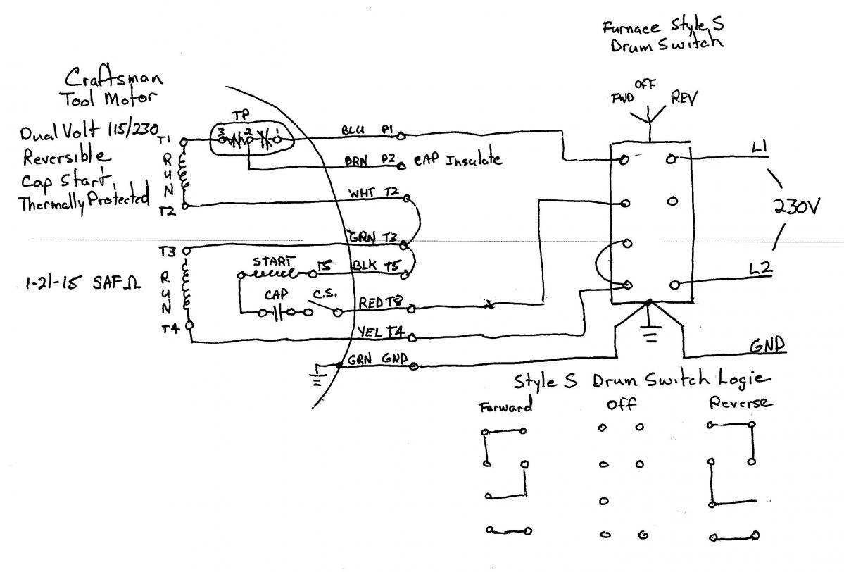 Wiring Diagram 230V Cscr Start Circuit - 4 Wire Motor Wiring Diagram