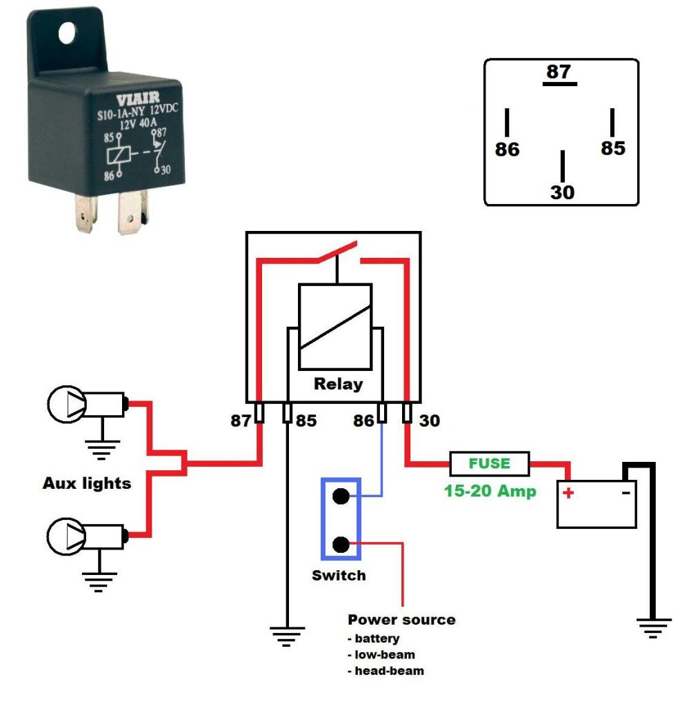 Wiring Diagram For A 12V 40 Amp Relay - Harley Davidson Forums - 12V Wiring Diagram