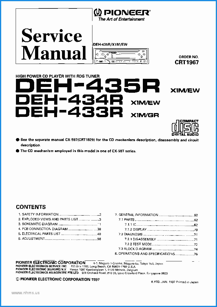 Wiring Diagram For A Pioneer Deh X6600Bt - Schematics Wiring Diagram - Pioneer Deh-X6600Bt Wiring Diagram