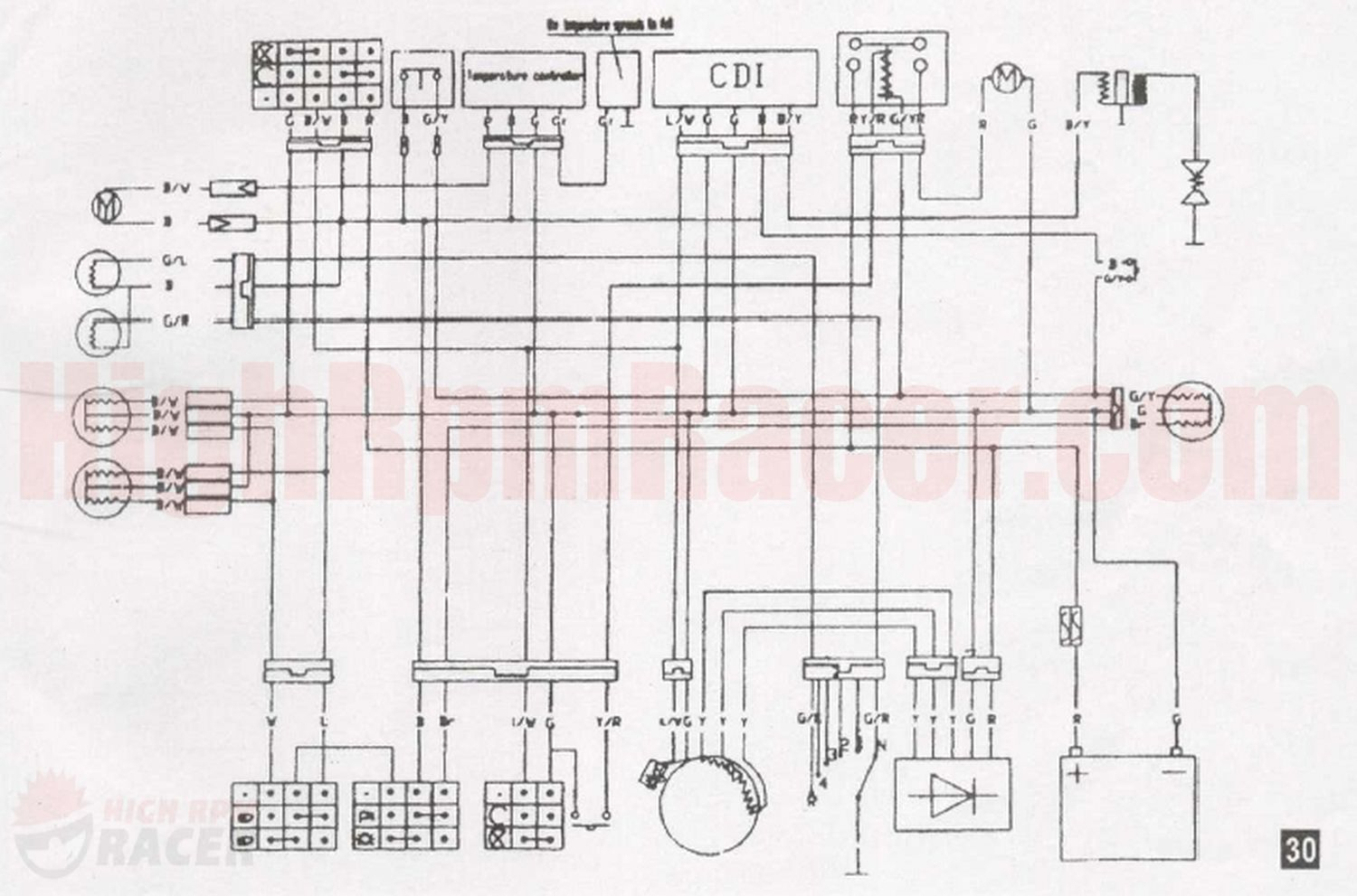 Wiring Diagram For Chinese Four Wheeler - Wiring Diagram Detailed - Chinese Atv Wiring Diagram 110