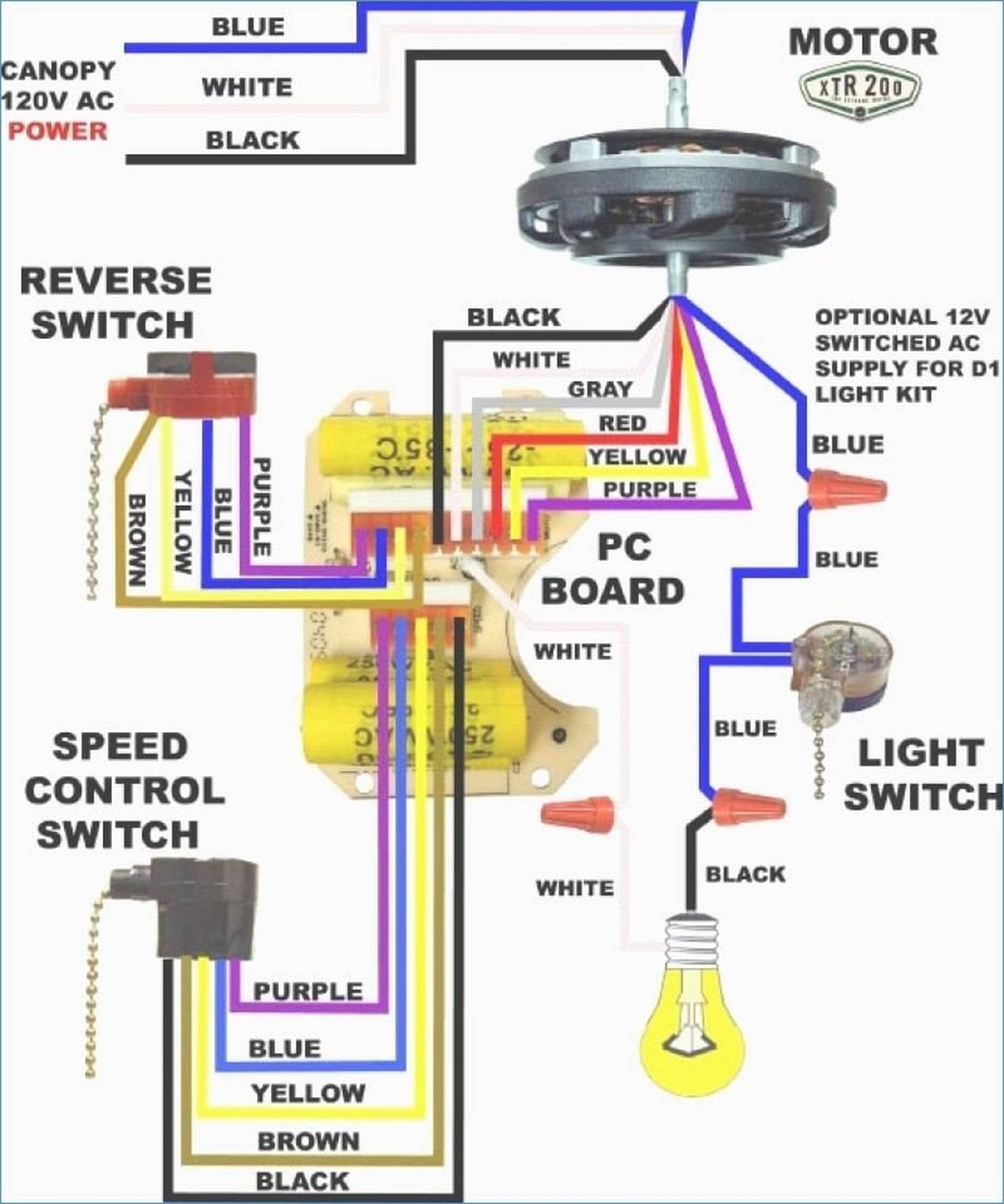 Wiring Diagram For Light Kit To Ceiling Fan - Wiring Diagram Data - Wiring Diagram For Ceiling Fan