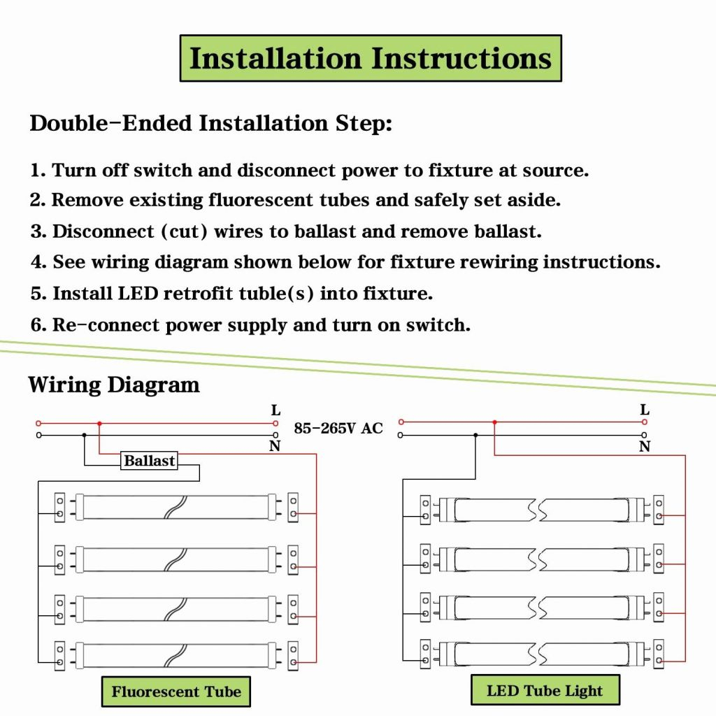 Wiring Diagram For T8 Fluorescent Lights | Best Wiring Library - Convert Fluorescent To Led Wiring Diagram