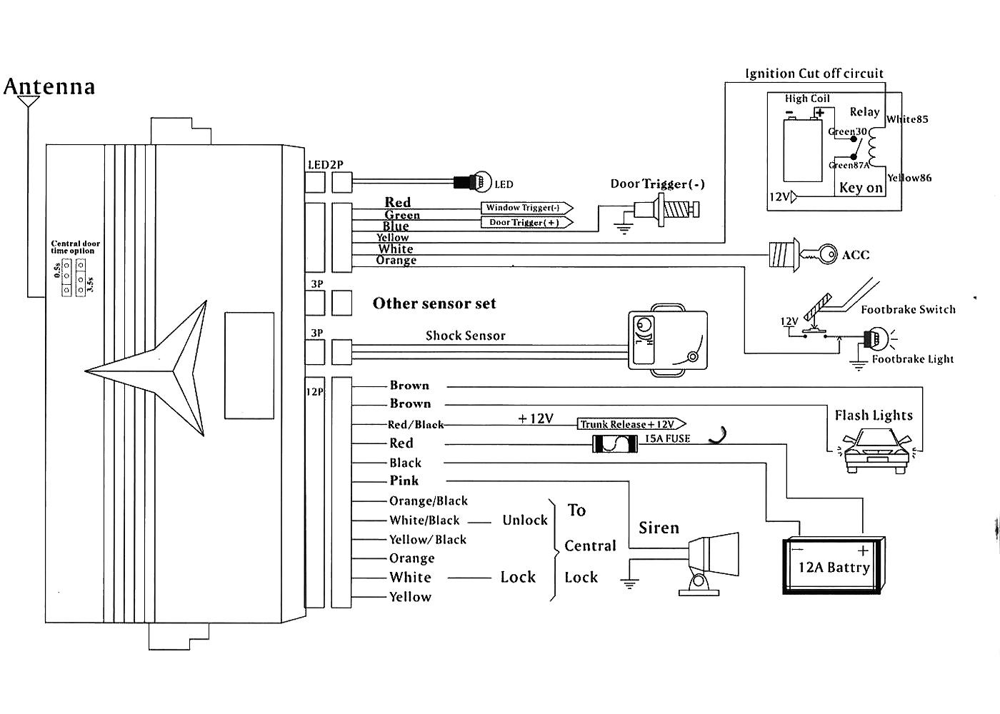 Wiring Diagram Of Car Alarm - Wiring Diagram Detailed - Car Alarm Wiring Diagram