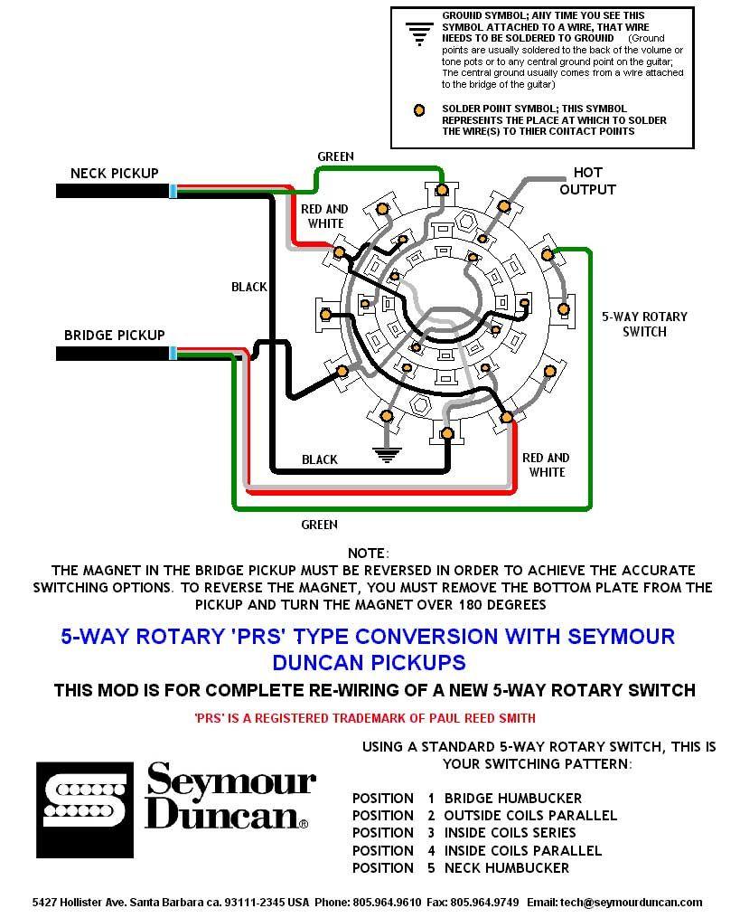 Wiring Diagram | Prs Dimarzio Seymour Duncan | Pinterest | Guitar - Prs Wiring Diagram