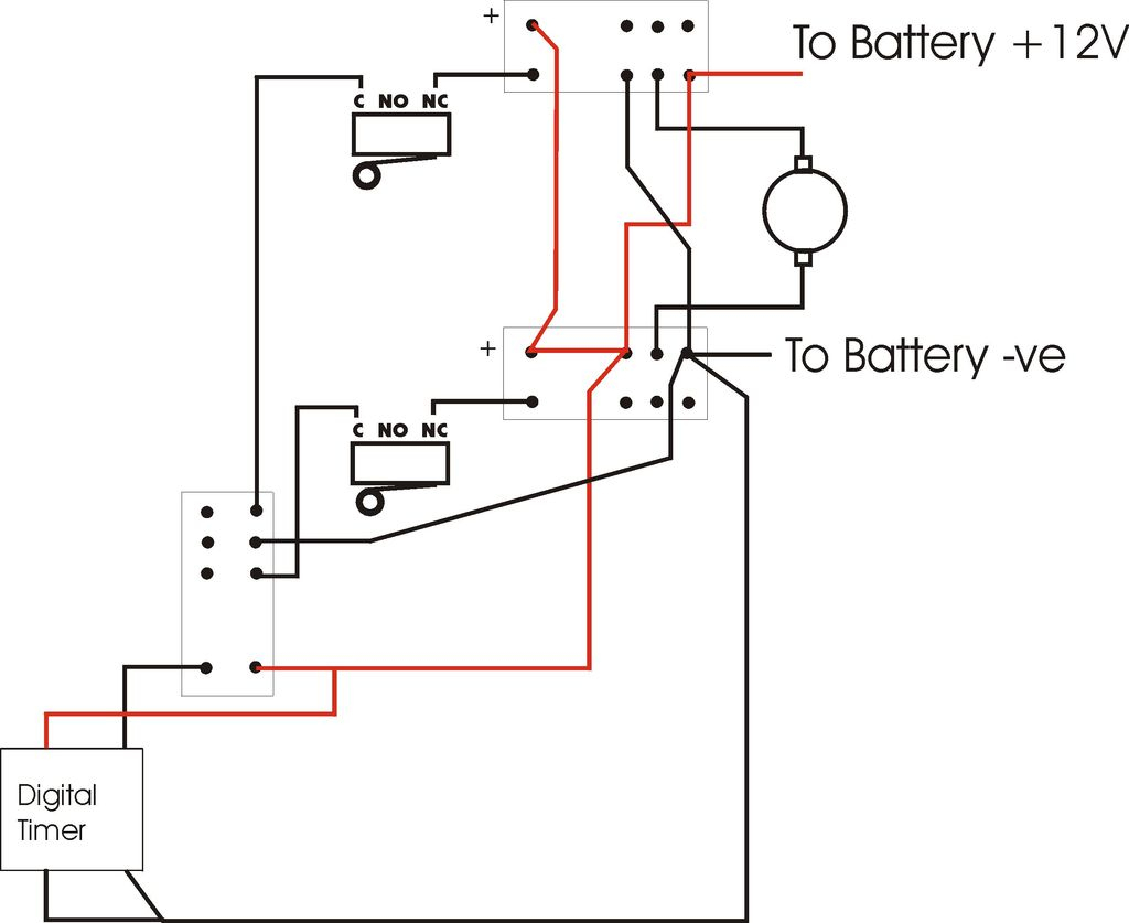 Wiring Diagram Reversible 12 Volt Motor - Wiring Diagram Detailed - Horn Wiring Diagram With Relay