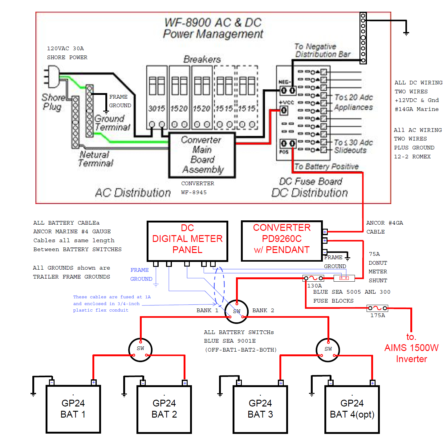 Wiring Diagram Troubleshooting Schematic Rv Power Converter Within - Rv Power Converter Wiring Diagram