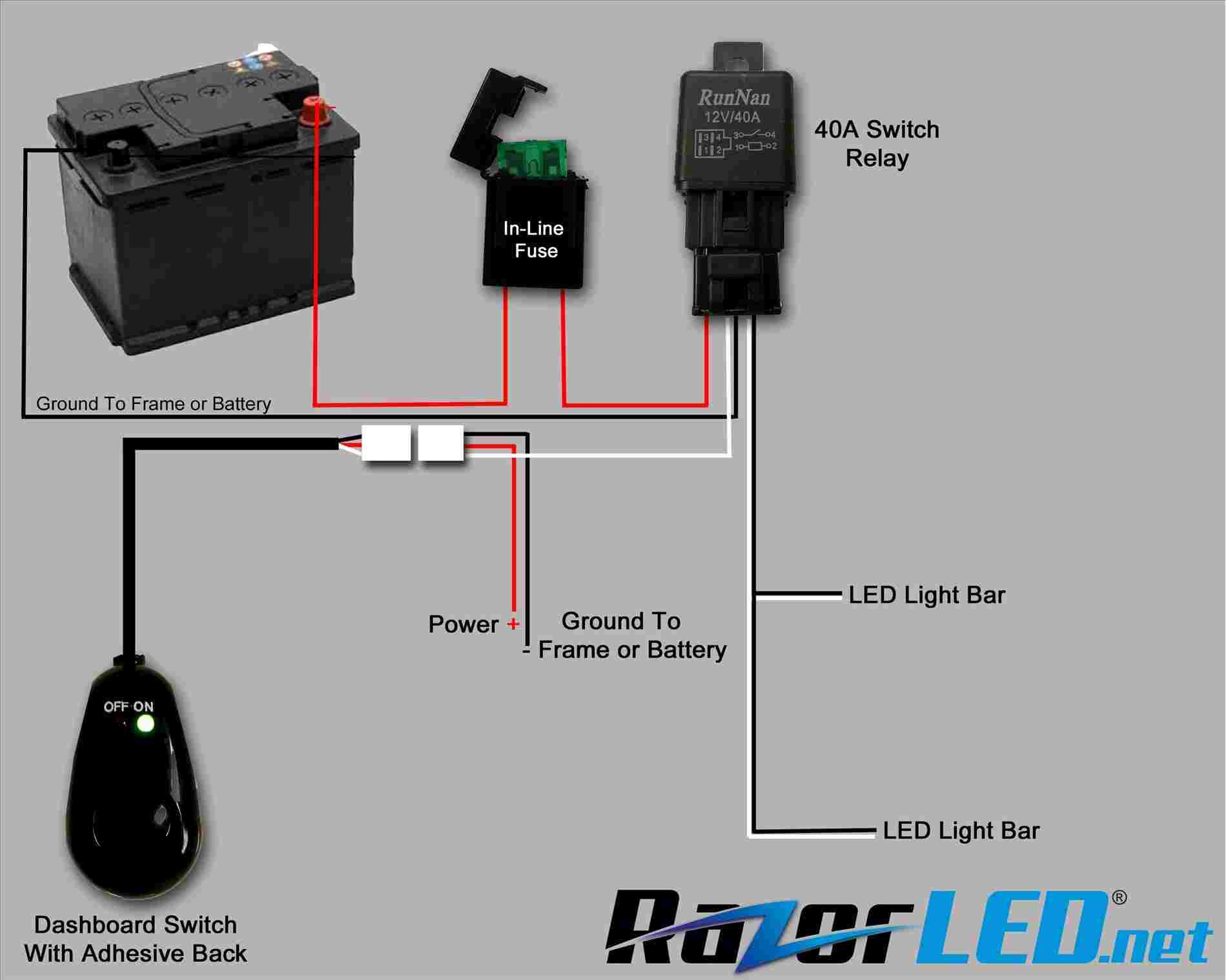 Wiring-Diagram-Webtor-Bunch-Ideas-Of-Simple-Led-Rhbritishpantoorg - Autofeel Light Bar Wiring Diagram