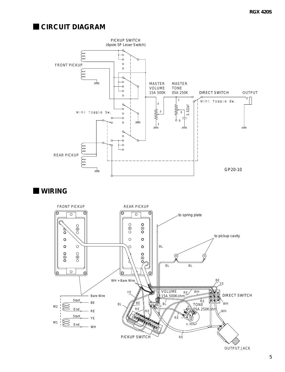 Wiring Diagram Yamaha Electric Guitar - Wiring Diagrams Click - Electric Guitar Wiring Diagram
