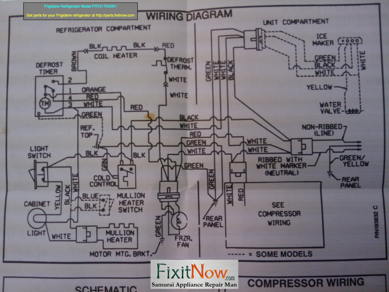 Wiring Diagrams And Schematics - Appliantology - Whirlpool Refrigerator Wiring Diagram