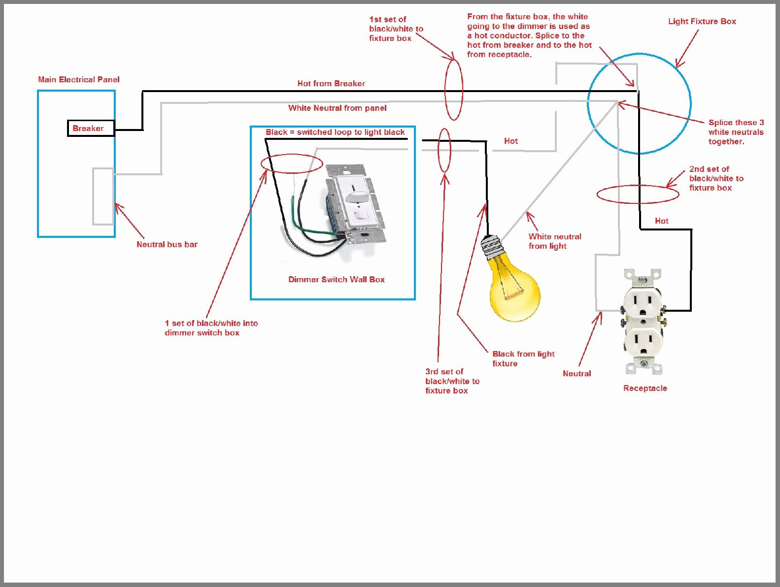 Wiring Diagrams For Black Fixtures | Schematic Diagram - Light Fixture Wiring Diagram