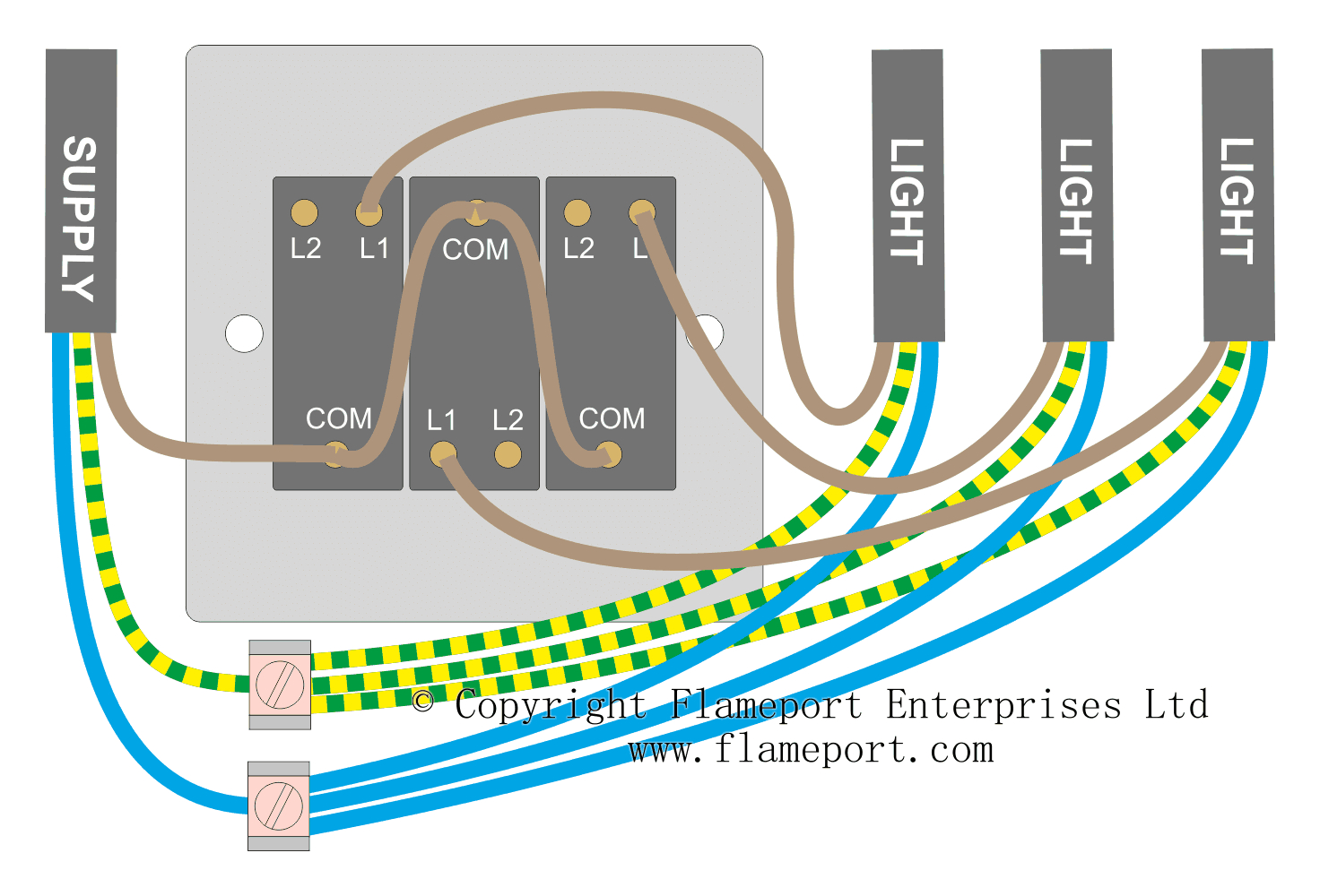 Wiring For A Single Loft Or Garage Light - 3 Way Light Switch Wiring Diagram Multiple Lights