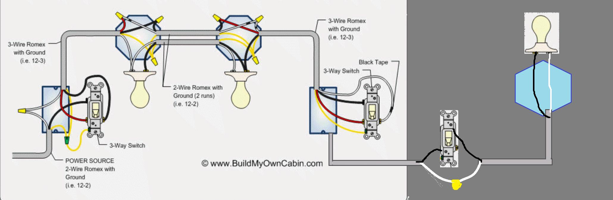Wiring - Going From 3 Way Switch To A Regular Switch - Home - 3 Way Switch Wiring Diagram Power At Switch