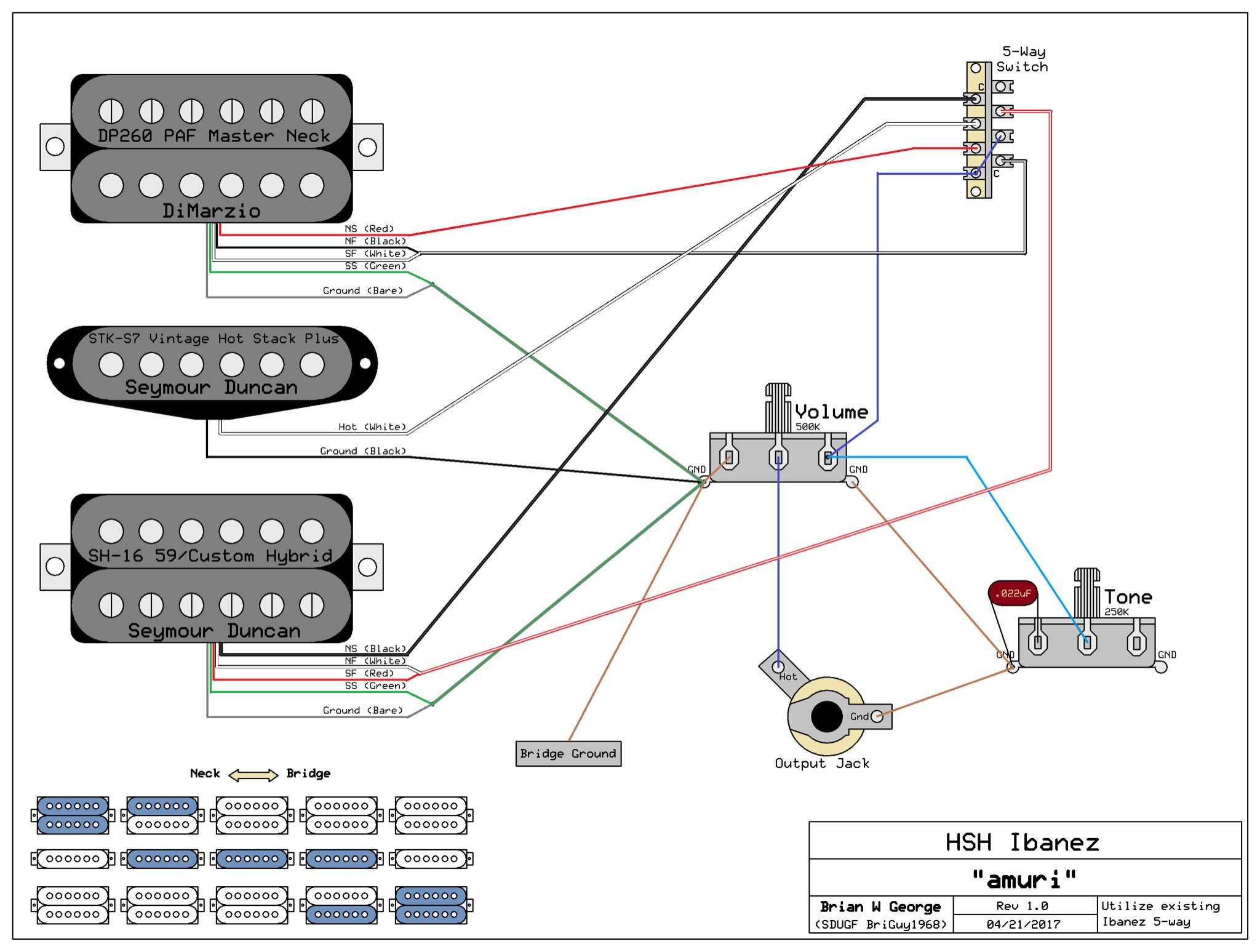 Wiring Help - Ibanez 5 Way Switch - 5 Way Switch Wiring Diagram